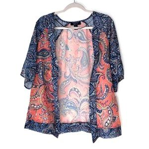 NWT Style & Co sheer floral duster/kimono. Size S